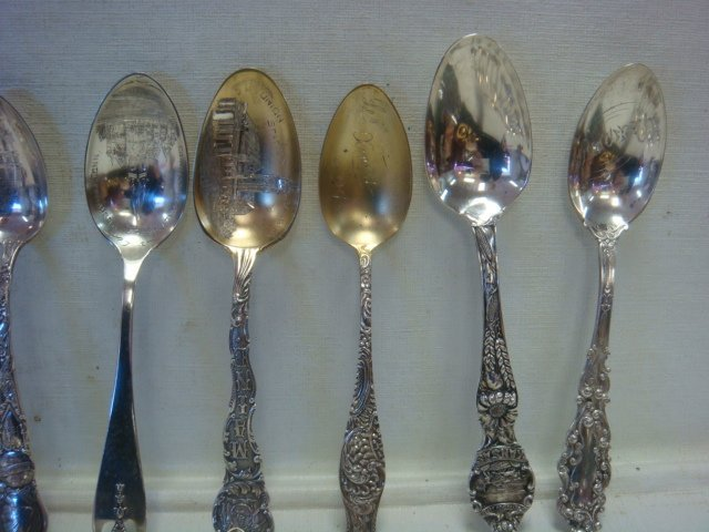 Twenty Six Sterling Silver Collector Spoons: - 2