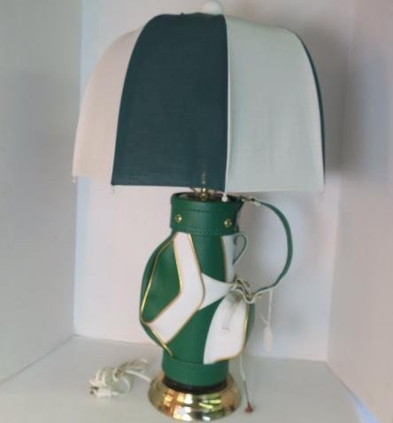 Green Durabag Golf Lamp with Umbrella Shade: