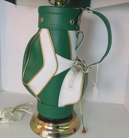 Green Durabag Golf Lamp with Umbrella Shade: - 2