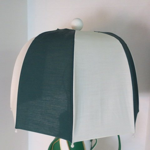 Green Durabag Golf Lamp with Umbrella Shade: - 4