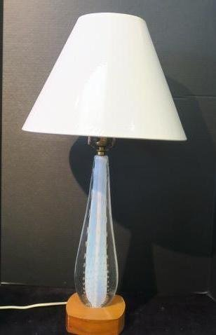 Glass Teardrop Controlled Bubble Table Lamp: