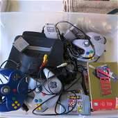 NINTENDO 64 N64 Video Game 3 Controllers  5 Games