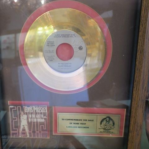 ELVIS PRESLEY Memorabilia, Gold Record, Book & Poster: - 2