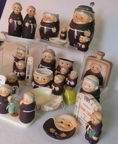 "W. GOEBEL ""FRIAR TUCK"" Series Collectibles, 30 Pcs: - 2"