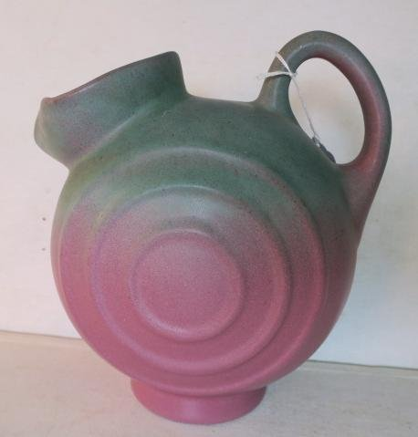 MUNCIE POTTERY Pitcher and Two Cups: - 2