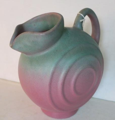 MUNCIE POTTERY Pitcher and Two Cups: - 3