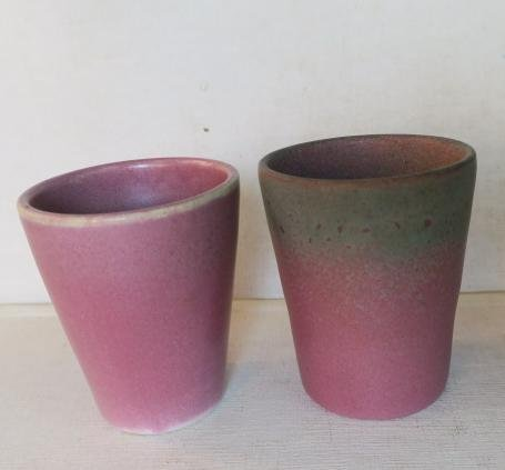 MUNCIE POTTERY Pitcher and Two Cups: - 4