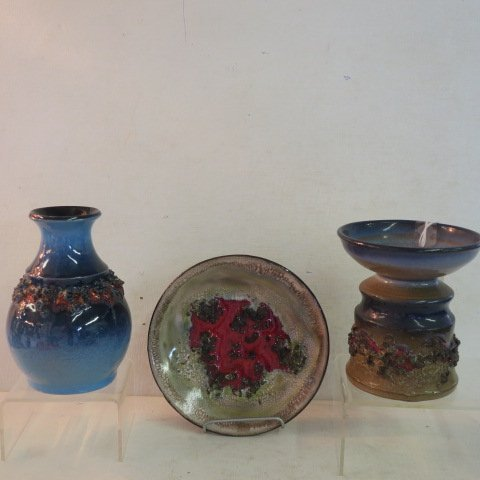 Mid Century GLIT Lava Pottery from Iceland: - 4