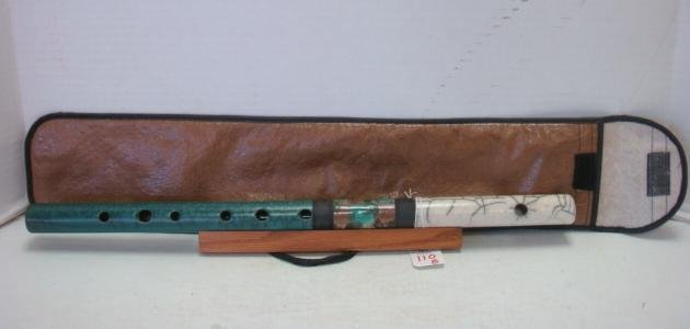 Ceramic Raku Flute in Bag with Stand: