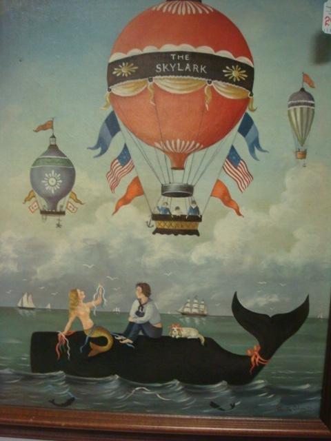 MARTHA CAHOON Print on Canvas, The Skylark: