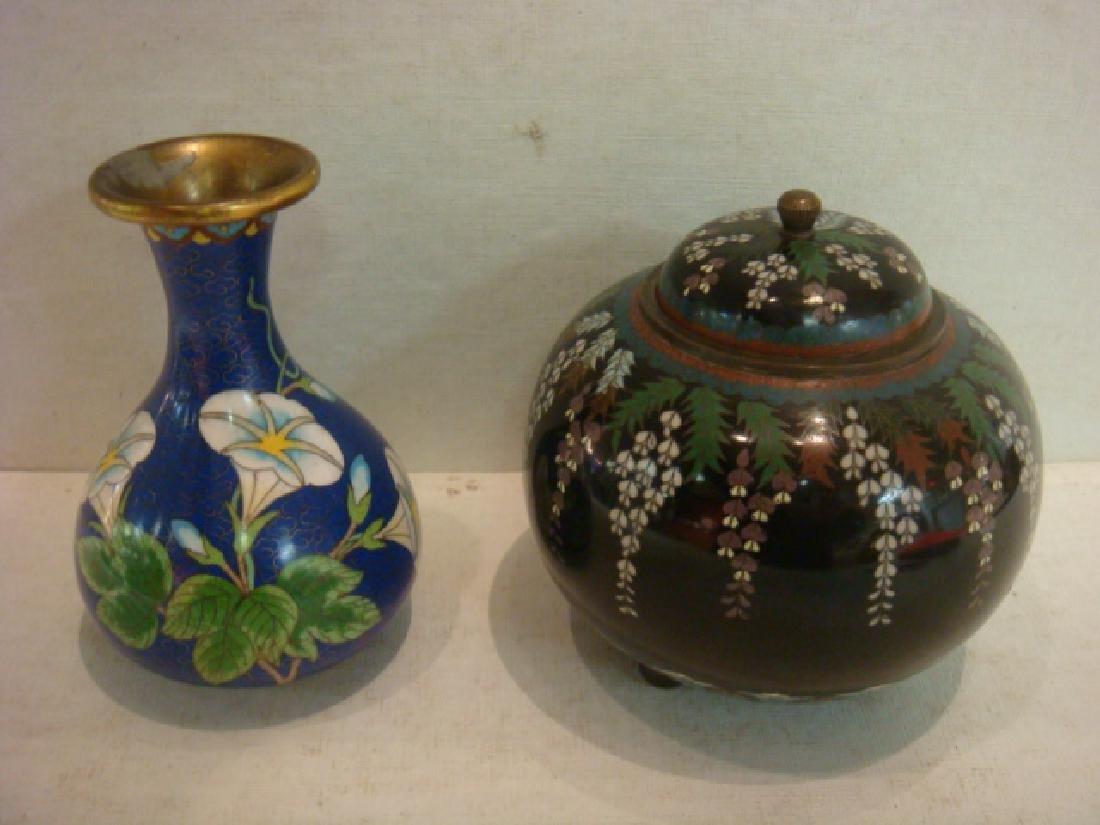 Japanese Cloisonné Jar, Chinese Vase: