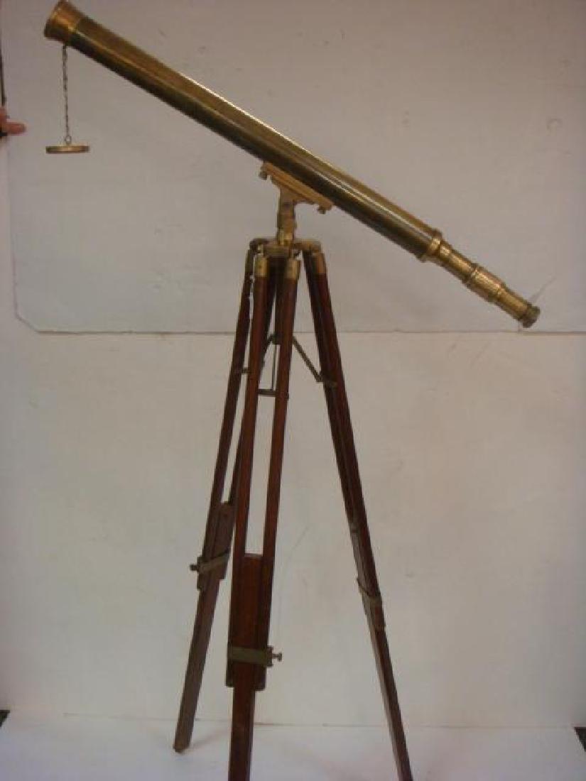 Harbormasters Brass Telescope with Brass & Wood Tripod