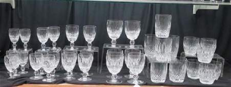 """36 Pieces of WATERFORD """"COLLEEN"""" Crystal Tableware:"""