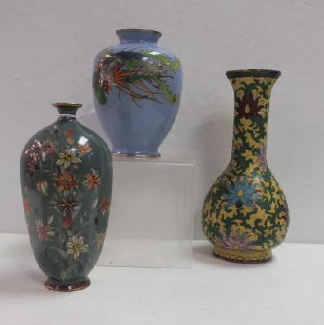 Three Cloisonné Vases: