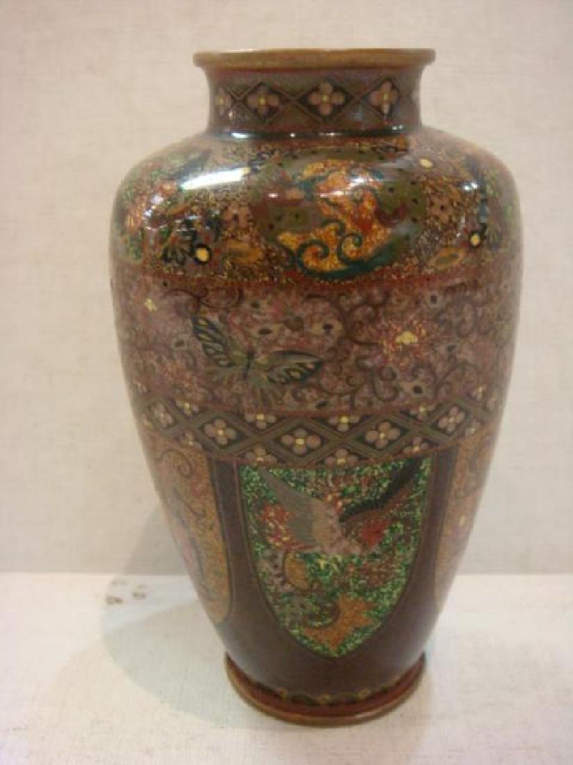 """Very Fine Japanese Cloisonné 4 7/8""""T Vase."""
