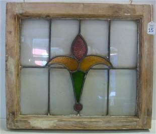 Framed Stained Glass Window: