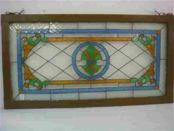 Fleur De Lis Leaded Stained Glass Window: