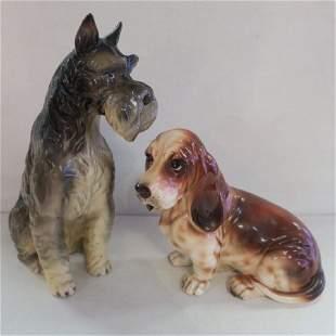 Two SHAFFORD Porcelain Kennel Club Dog Figurines: