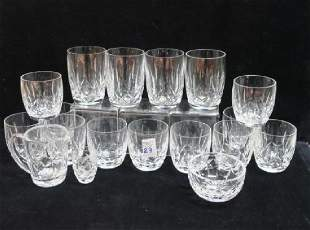 WATERFORD Kildare and Kerry Glassware, 18 PCS: