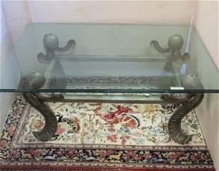Double Glass Top Pier de Lui Metal Table: