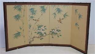 Chinese Four Panel Wall Screen: