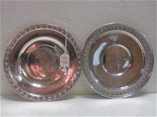 Two Sterling Silver Trays: