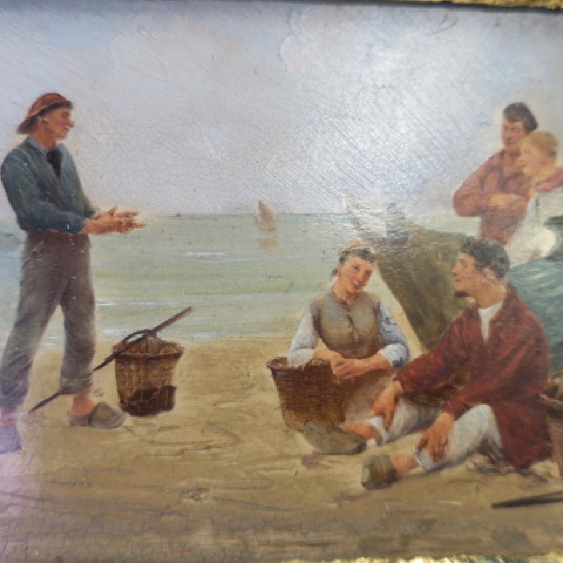 "Petite Oil on Board, ""The Clam Diggers:"" - 3"