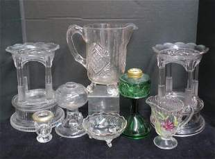 Various Pressed Glass: