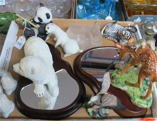 Assortment of Eight Porcelain Animals:
