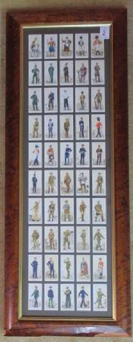 """PLAYERS Cigarette Cards """"UNIFORMS OF TERRITORIAL ARMY:"""