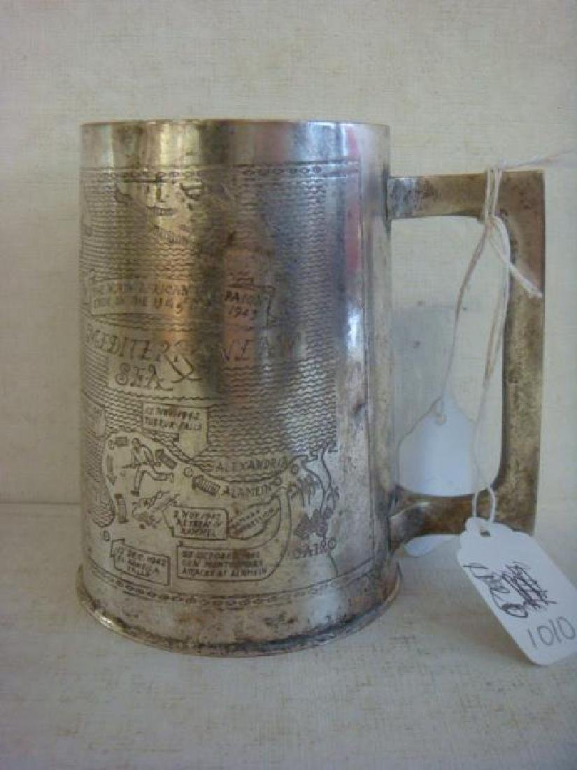 TRENCH ART 1943 Engraved North African Tankard: