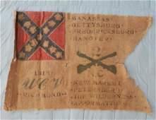 Rare UCV Encampment Unit Flag 2nd NC Cavalry, CA 1918: