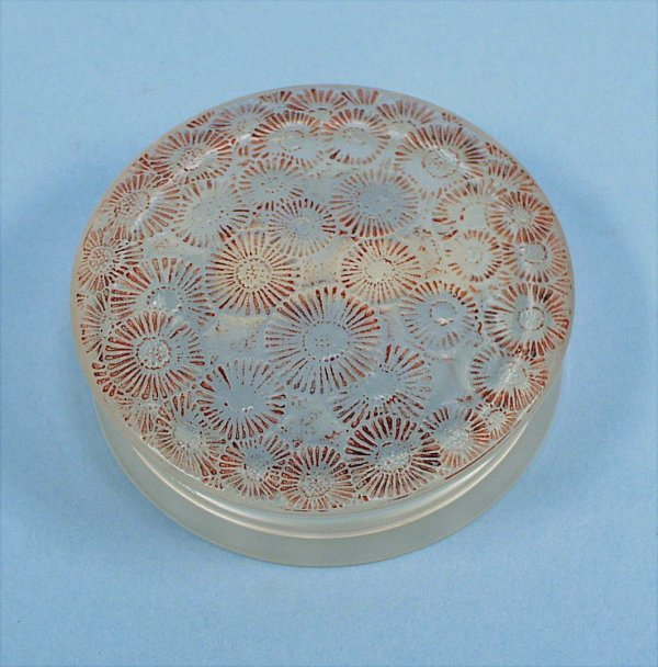 """1: R. LALIQUE - """"Margarite"""". A frosted and clear glass"""