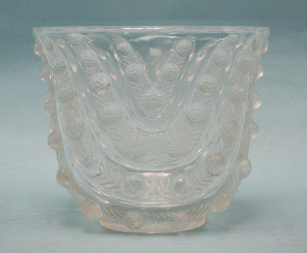 "4: ART DECO - R. LALIQUE. ""Vichy""- A flask shaped glass"