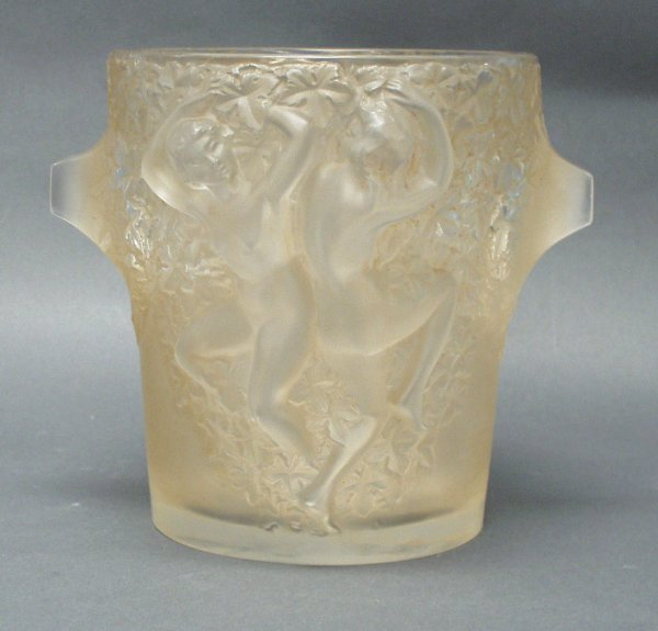 6: MARC LALIQUE, FRANCE - A frosted and clear glass win
