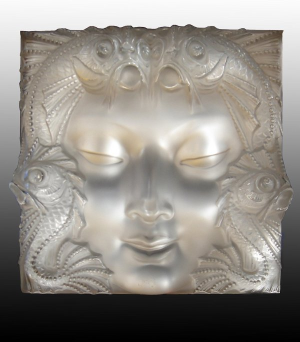 7: MARC LALIQUE - A French frosted glass plaque. Relief