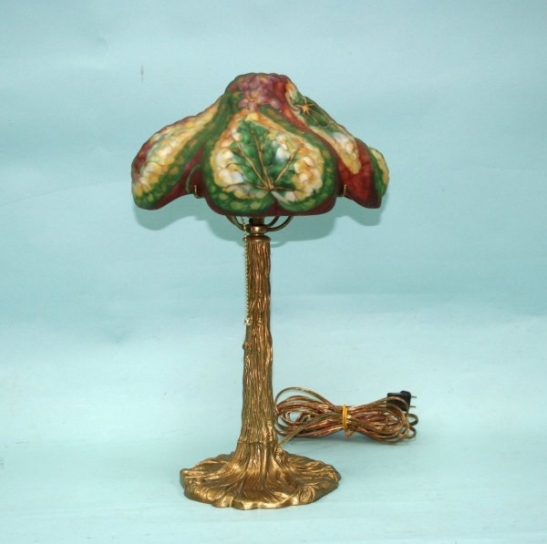 28: ART NOUVEAU - A very good American lamp by Pairpoin