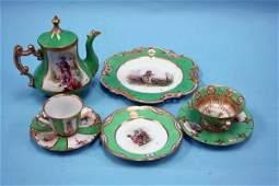 102: A fine 68 piece handpainted porcelain luncheon ser