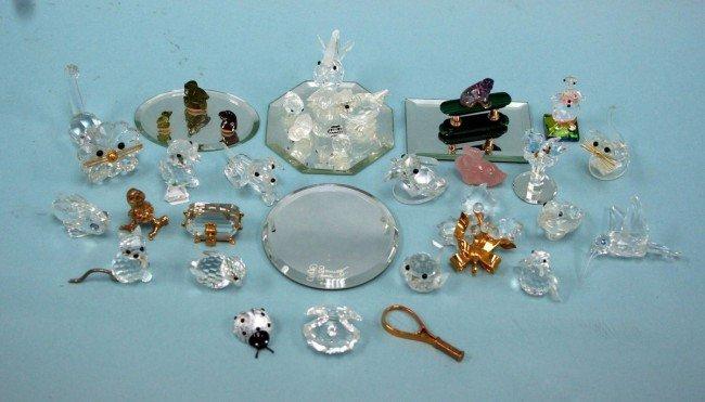 1: SWAROVSKI - A lot of 26 miniature crystal figures of