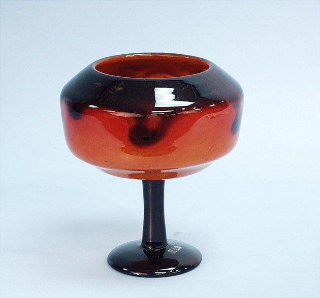 7: SCHNEIDER, FRANCE. A fine art glass vase. Purple fus