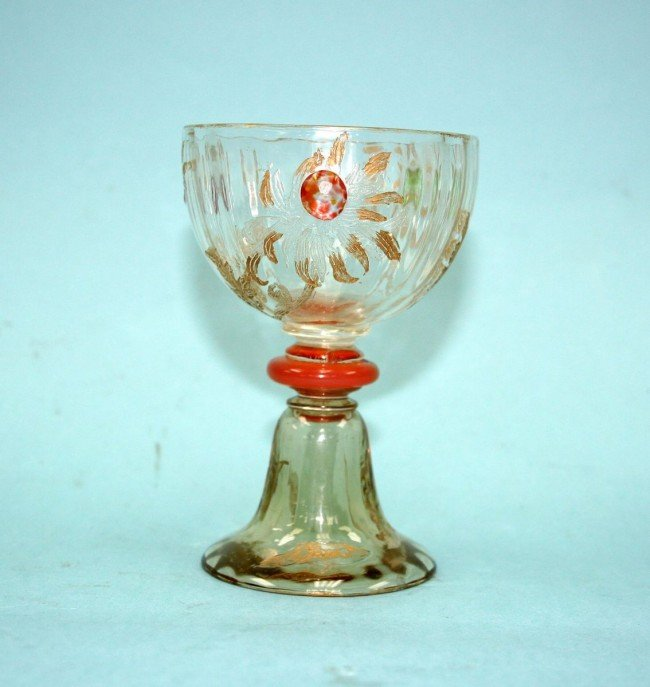 8: ART NOUVEAU - EMILE GALLE . A French art glass foote