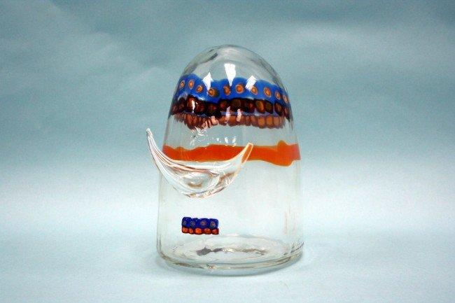 19: Head of a Viking. An unusual 1950's Murano glass fi