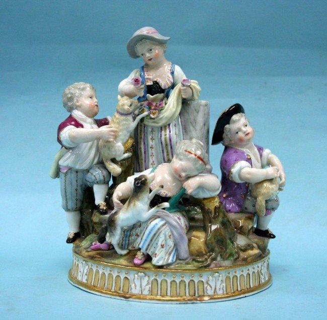 23: MEISSEN - A finely detailed antique German porcelai