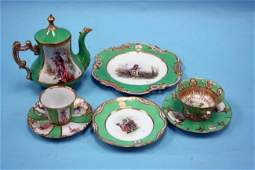 26: A fine 68 piece handpainted porcelain luncheon serv