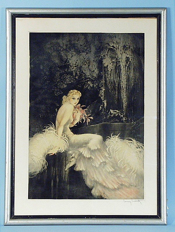 """305: LOUIS ICART (1888-1950) French school. """"Les Orchid"""