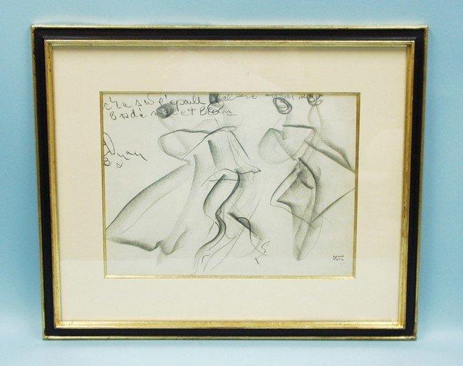 "306: JEAN (JANOS) TOTH (1899-1972) Hungarian school. ""D"