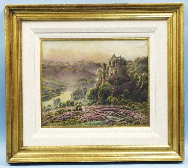 "356: GASTON ANGLADE (1854-1919) French school. ""Chateau"