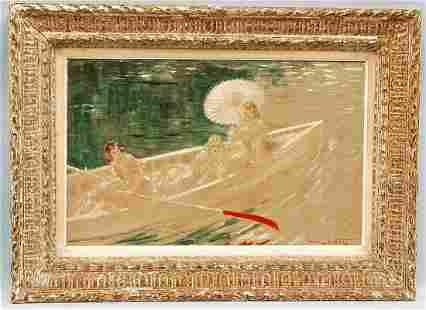 """351: LOUIS ICART (1888-1950) French school. """"Au Fil de"""