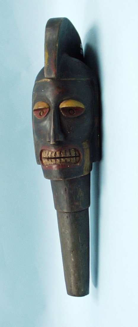 Head of a Warrior Chief. A large African trib
