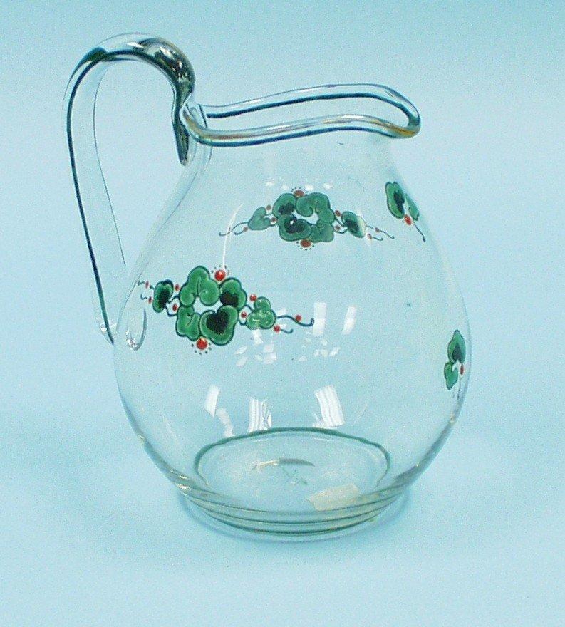 ART DECO - MARCEL GOUPY - A clear glass jug w